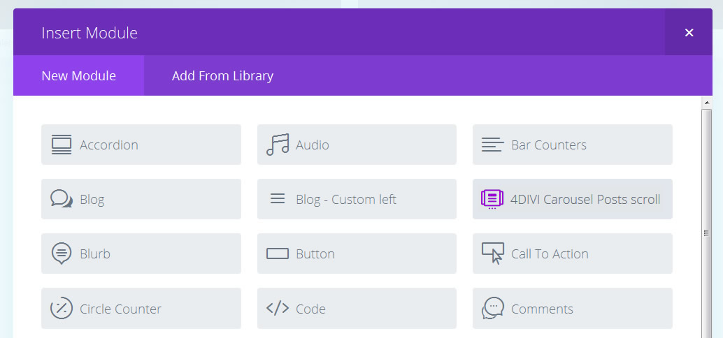4divi blog custom post type